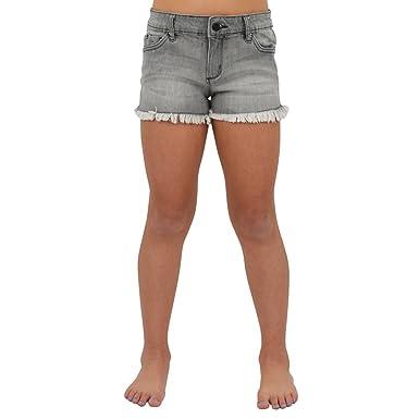 0ceaafbec7fb3 Amazon.com: Tractr Tween Girls Fray Hem Shorts in Grey (14, Grey ...