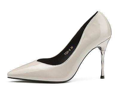 Easemax Damen Modisch Pointed Toe Geschlossen Hochzeit High Heels Pumps mit Stilettos