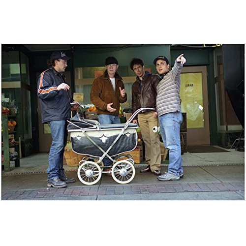 Welcome to Collinwood 8 Inch x10 Inch Photo Anthony & Joe Russo Giving Direction to William H. Macy & Sam Rockwell - To Macy's Directions