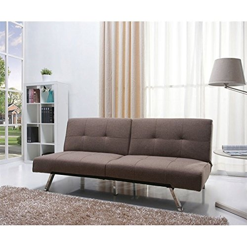 Gold Sparrow Contemporary Gray Fabric Convertable Futon Sofa Bed Recliner with Frame by Gold Sparrow