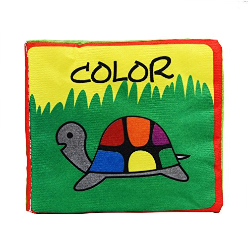 Doinshop Soft Cloth Cognize Book Baby Intelligence Development Education Toys Learning Picture (Color)