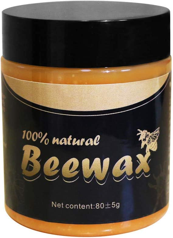 Wood Seasoning Beewax, Beeswax Furniture Polish Cleaner for any Wood, Doors, Tables, Chairs, Cabinets and Floors for Restoring Wood's natural beauty to Beautify & Protect (3 OZ)