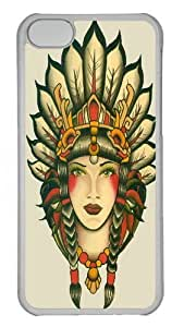Girl 26 Polycarbonate Hard Case Cover for iPhone 5C Transparent