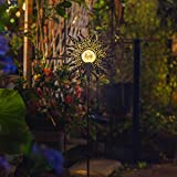 Homeimpro Sun Solar Lights Garden Outdoor,Crackle