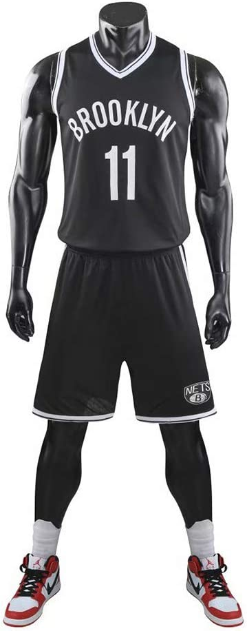 PAOFU-Brooklyn-Netze Kyrie Irving # 11 Unisex Basketball Jersey Basketball Trikot Set Klassisches /Ärmelloses Top und Shorts