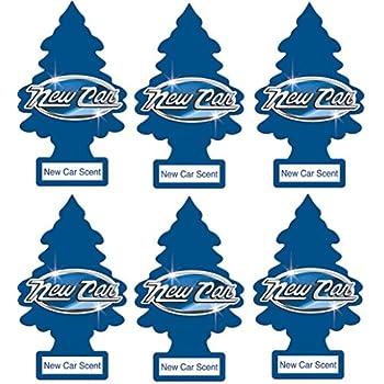 Little Trees 6 New Car Scent Air Freshener, 6 Pack