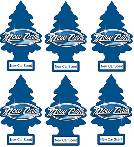 Little Trees 6 Air Freshener (New Car Scent), 6 -