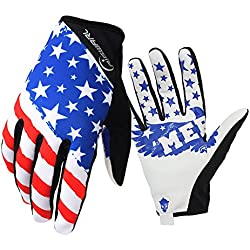 RIGWARL Bike MTB gloves with American flag pattern design for off-road motorcycles - mountain climbing - hiking and other outdoor sports use, male and female common. (S)