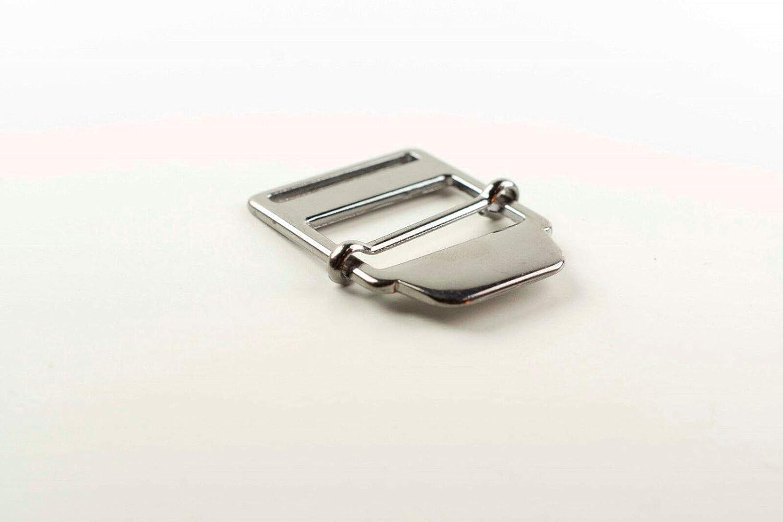 Webbing Straps 10 30mm Adjustable Slider Buckle Gunmetal Nickel