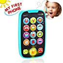 Baby Toys,Vatos Baby Phone Toys with Lights, Music| Early Educational Learning Toys for Baby 8M -12M -24M + My First SmartPhone| Click& Count, Call & Chat for Role-play Fun Toy for One Year Old Gifts