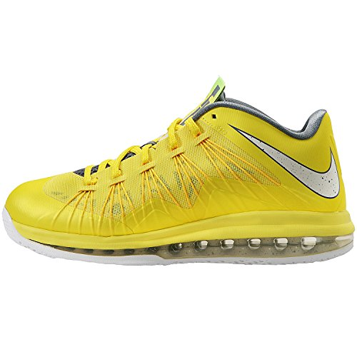 Nike-Mens-Air-Max-Lebron-X-Low-Basketball-Shoes-Sonic-YellowSlCl-GryTr-Yllw-10-Men-US