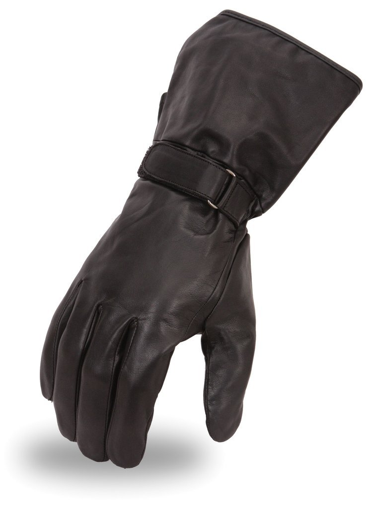 Black,XXL First Manufacturing Mens Hornet Leather Motorcycle Gloves ,1 Pack