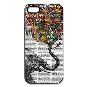 Case For Sam Sung Note 3 Cover Hard Back Protective-Unique Design Cute Vintage Newspaper Elephant Aztec Floral Trunk Case Perfect as Christmas gift(4)
