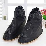 Kyпить Benran Rain Shoe Covers Shoes Overshoes Boot Gear Zippered Shoes for Men and Women (Black, 30.5cm) на Amazon.com