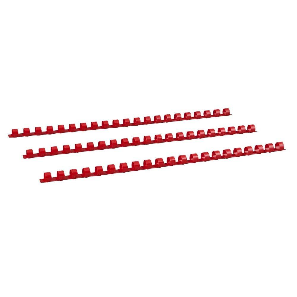 Renz Plastikbinder/ücken US-Teilung 21 Ringe f/ür DIN A4 wei/ß Durchmesser 12 mm