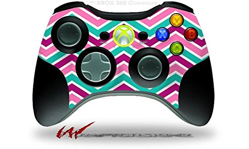 XBOX 360 Wireless Controller Decal Style Skin – Zig Zag Teal Pink Purple (CONTROLLER NOT INCLUDED) Review