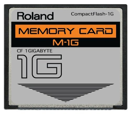 Roland 1GB M-1G CompactFlash CF Memory Card for MC-808, SP-404, SP-555, V-Synth, G-70, TD-20, Fantom and more ()