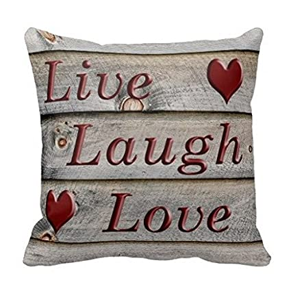 Trendy Live Laugh Love on the Side of a Barn Throw Pillows Case Canvas Accent Pillows Pillow Protector