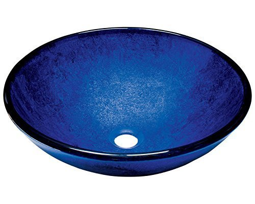 Polaris Sinks P446 Foil Undertone Royal Blue Glass Vessel Sink by Polaris Sinks by Polaris Sinks