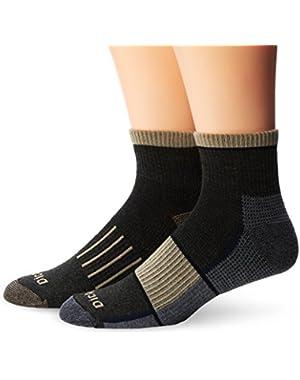 Men's 2 Pack Work To Casual Colorblock Quarter Socks