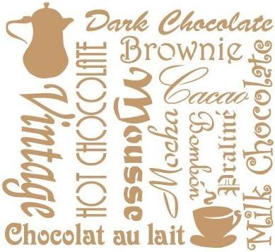 Medida exterior 25 x 25 cm Medida del dise/ño:21 x 19,2 cm TODO-STENCIL Deco Vintage Composici/ón 093 Chocolate Medidas aproximadas