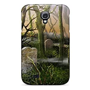 New Galaxy S4 Case Cover Casing(spider Webs In The Cemetery)