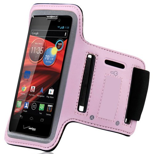 Baby Light Pink ArmBand Workout Case Cover For - Cell Phone Covers Razor Max