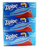 ziploc large freezer - Ziploc Freezer Bags with Easy Open Tabs - 3 x 40 Large Bags (26.8 x 27.3 cm)