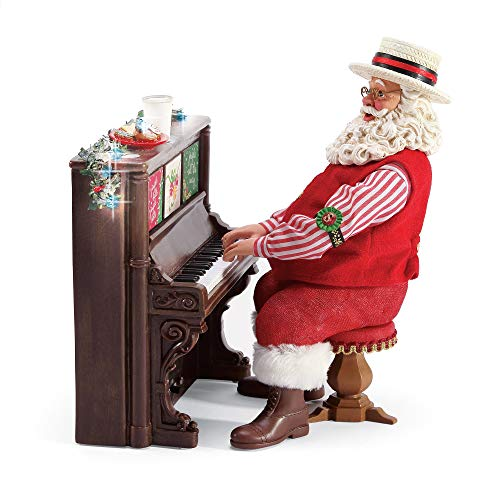 "Department 56 Possible Dreams Santas Piano Man Figurine, 9"", Multicolor"