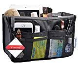 Travel Organizer Bag Multi-pocket Insert Handbag Purse Tidy Bags For Multipurpose Black