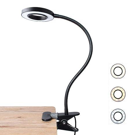 Lamparas de mesa con pinza Luz de lectura LED para libro ...