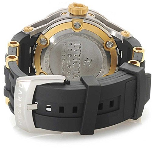 Mens Reserve 52mm Specialty Subaqua Swiss Made Quartz GMT Polyurethane Strap Watch - Invicta 80585