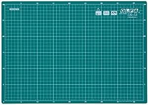 Olfa CM-A3 - Planchas de corte de 2 mm de espesor, color verde (43 x 30 cm)