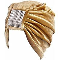 Litetao Women Boho Cancer Hat Beanie Scarf Turban Multifunctional Head Wrap Cap