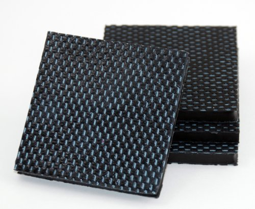 Isolate It: Sorbothane Vibration Isolation Reinforced Heavy Duty Square Pad 50 Duro (2.5'' x 2.5'' x 1/4'' Thick) - 4 Pack by Isolate It! (Image #2)