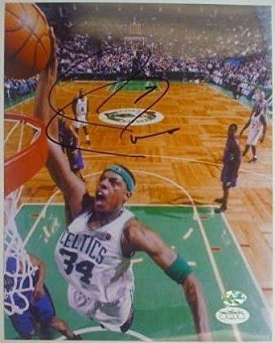 Paul Pierce Boston Celtics Signed 8x10 dunking JSA