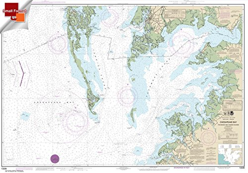Paradise Cay Publications NOAA Chart 12228: Chesapeake Bay Pocomoke and Tangier Sounds 21.00 x 30.17 (SMALL FORMAT WATERPROOF)