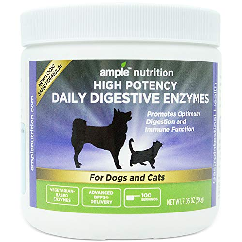 Ample Nutrition Digestive Enzyme for Dogs & Cats, 7.05oz - Tasteless Powdered Blend