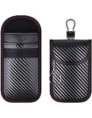 2 Pack Faraday Bag for Key Fob, Car Key Signal Blocking Pouch, Keyless Entry Car Keys Case, RFID Blocker Bag for Car Key Radio Key Shielding Theft Protection