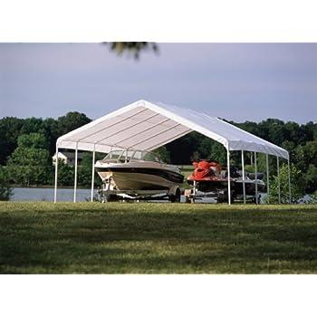 ShelterLogic 12 x 30- Feet Canopy 2- Inch 6-Rib Frame White  sc 1 st  Amazon.com & Amazon.com : 18-Ft. x 40-Ft. Canopy : Outdoor Canopies : Garden ...