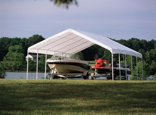 ShelterLogic 12 x 30- Feet Canopy 2- Inch 6-Rib Frame, White Cover by ShelterLogic