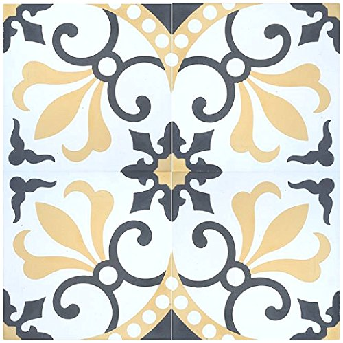 Rustico Tile and Stone RTS16 Thames Cement Tile Pack of 13, 8