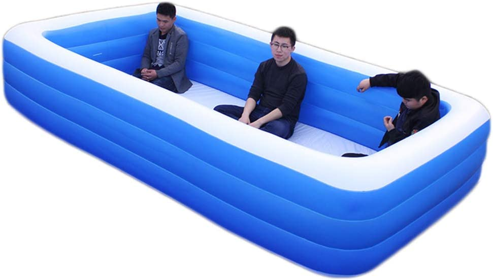 Adult//Childrens Paddling Pool Garden Pool Three Levels Of Independent Inflation Suitable For 0~6 People,262 160 WN-PZF Inflatable Swimming Pool,Indoor//Outdoor Paddling Pools 60cm
