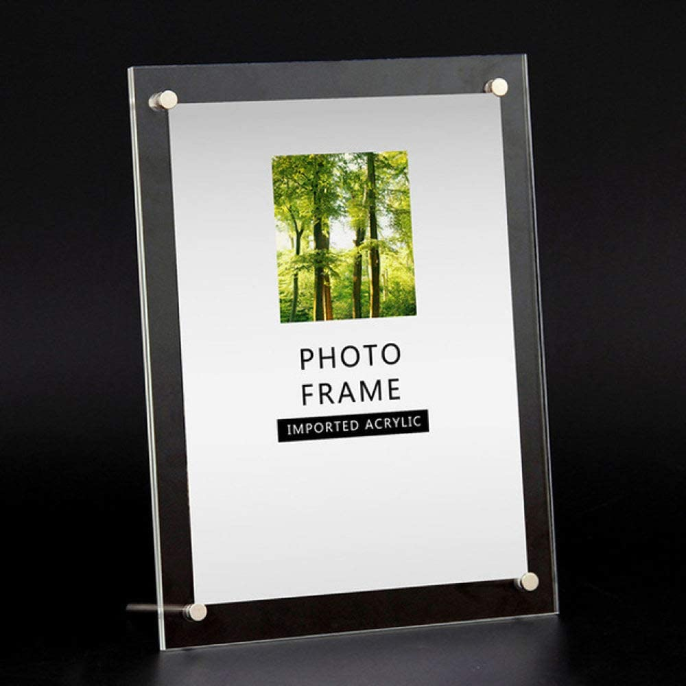 STMMXM Marco de Fotos Wholesale Clear Paper Photo Frame Modern Picture Frame Holder Rectangle Wedding Photo Frames for Picture 6/7/8/10/12Inch, 6 Inch