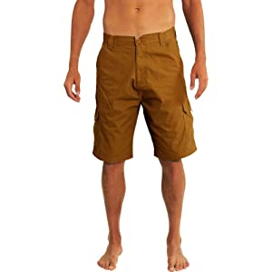 NEWCOSPLAY Men's Cotton Cargo Army Green Shorts (32, Army Green)