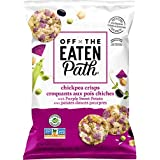 Off The Eaten Path Chickpea Veggie Crisps with Purple Sweet Potato Chickpea and Rice Snacks, 177 g