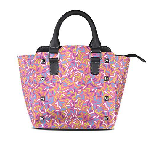 I Like Pink Glazed Donuts Women Top Handle Satchel Handbags Shoulder Bag Tote Purse Messenger Bags