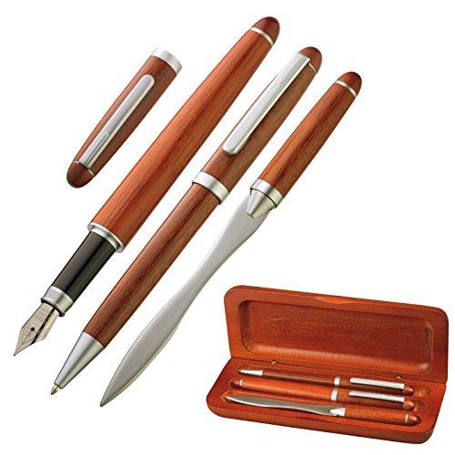 /Stylo bille ouvre-lettres /& Plume//stylo/ /Encre bleue/ Set d/écriture/ //él/égant en bois/ /4101