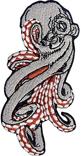 たこ刺繍のバッジのアイロン付けまたは縫い付けるワッペン
