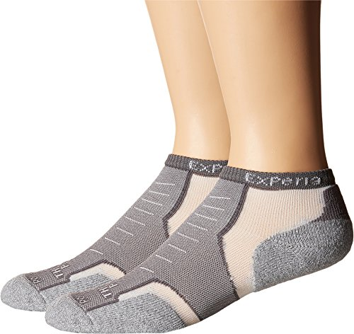 Thorlo Experia Coolmax Micro Mini Crew Sock Size 11, Grey - Coolmax Mini Socks